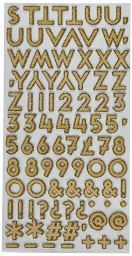 American Crafts Shimelle Glitter Girl 176 Piece Gold Thickers