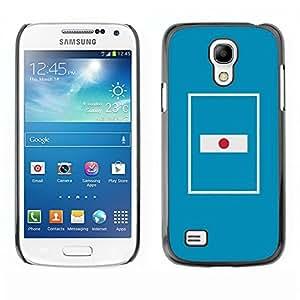 Cubierta de la caja de protección la piel dura para el SAMSUNG GALAXY S4MINI - flag nation country blue minimalist
