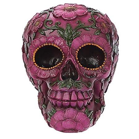 Fantasy day of the dead pink flower skull amazon kitchen home fantasy day of the dead pink flower skull mightylinksfo
