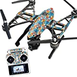 MightySkins Protective Vinyl Skin Decal for Yuneec Q500 & Q500+ Quadcopter Drone wrap cover sticker skins Sunset Flowers
