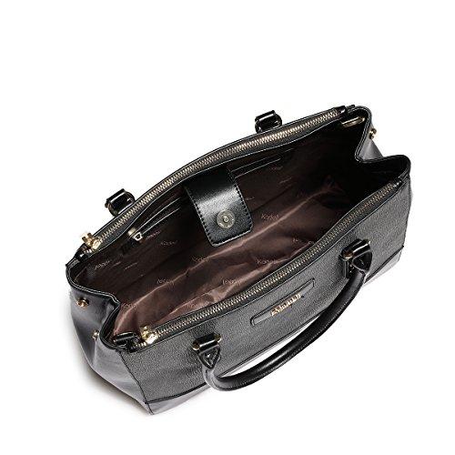 tracolla lusso Una Borsa pelle crocodile di Crossbody in in Kadell rosso a a Nero borsa marca tracolla di vino 7RZwxq