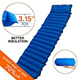 WZQH Camping Sleeping Pad,Ultralight Inflatable Camping Mat with Attached Pillow for Backpacking,Hiking,Traveling,Outdoor Activities.Thermarest Air Mattress Compact,Light Weight,Insulated,Comfortable