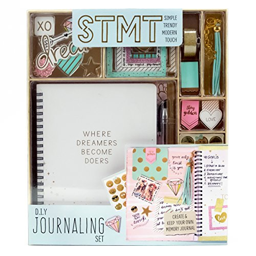 STMT DIY Journaling Set by Horizon Group USA, Personalize & Decorate Yourplanner/Organizer/Diary with Stickers, Gems, Glitter Frames, Glitter Clips, Pen, Magnetic Bookmarks, Tassel Keychain & -