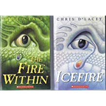 1) The Fire Within and 2) IceFire by Chris D'Lacey (Volumes I and II)