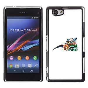 LECELL--Funda protectora / Cubierta / Piel For Xperia Z1 Compact D5503 -- P0kemon Equipo --