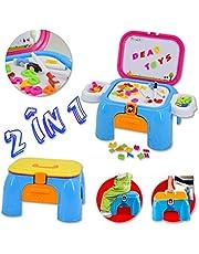 Kit Actividades Creativas y Educativas – Taburete/ Maletín portable con pizarra magnética incrustada y accesorios incluidos.