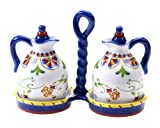 Certified International Amalfi 3-Piece Oil and Vinegar Set by Certified International