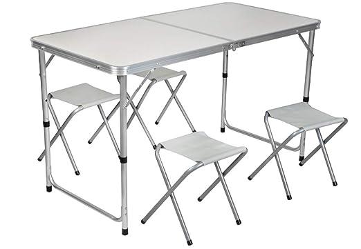 MALATEC 7893 - Mesa de Camping (Aluminio, 120 x 60 x 70 cm ...