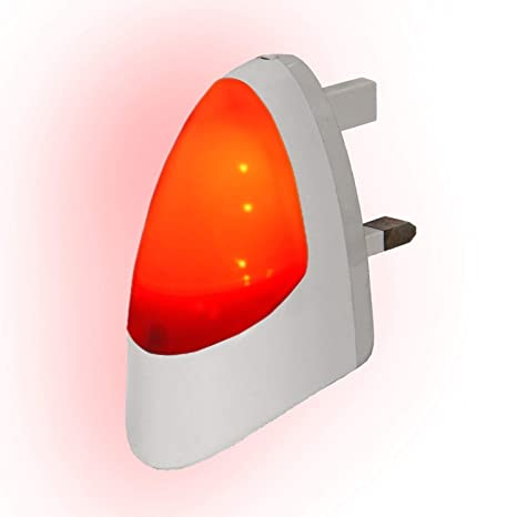 a7f8ab86d19d RED Automatic LED Night Light Dusk 2 Dawn LED Sensitive, White, Plug in:  Amazon.co.uk: Lighting