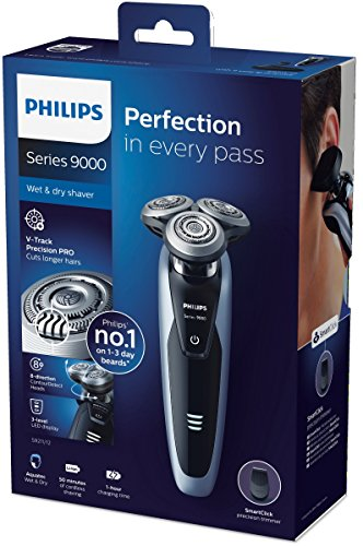 Philips Series 9000 Wet & Dry Men's Electric Shaver with Precision Trimmer (UK 2-Pin Bathroom Plug) - S9211/12