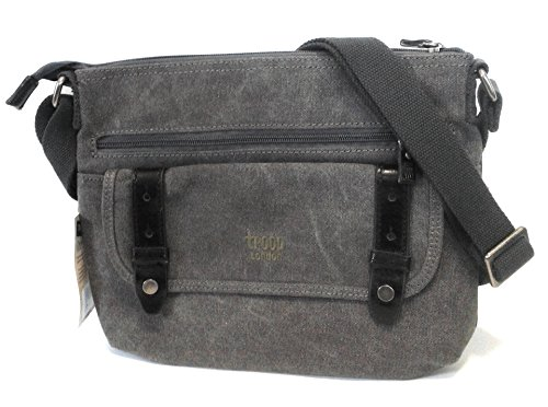 troop London - Bolso al hombro de Lona para mujer Multicolor multicolor Negro