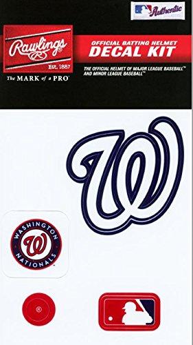 Rawlings Sporting Goods MLBDC Decal Kit, Washington Nationals (Rawlings Team Logo Baseball)