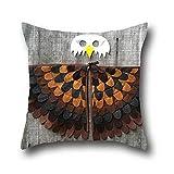 Fen Dou La 100% Cotton Halloween Mask Decoration Festival Pillow Case Cushion Cover Lovely Animal Stars Decorative 16*16