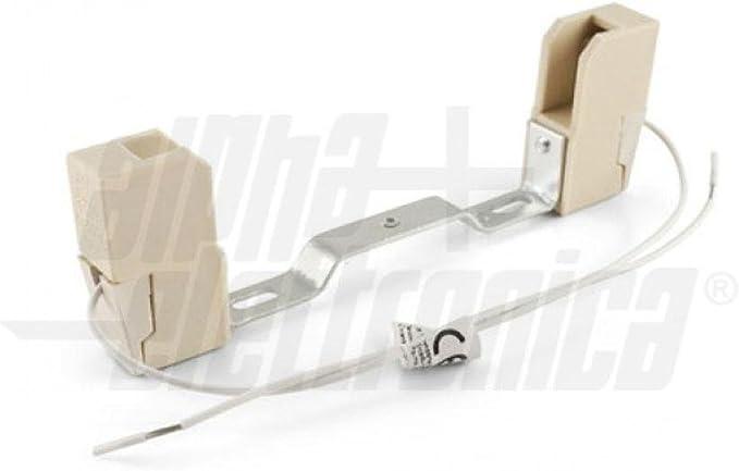 Kit de 2 unidades de casquillos de bombilla R7S 118 mm cerámico ...