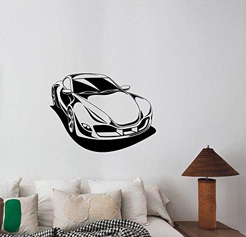 treet Drag Racing Speedster Vinyl Decal Hotrod Roadster Art Decorations for Home Kids Boys Room Bedroom Decor Ideas cs5 ()