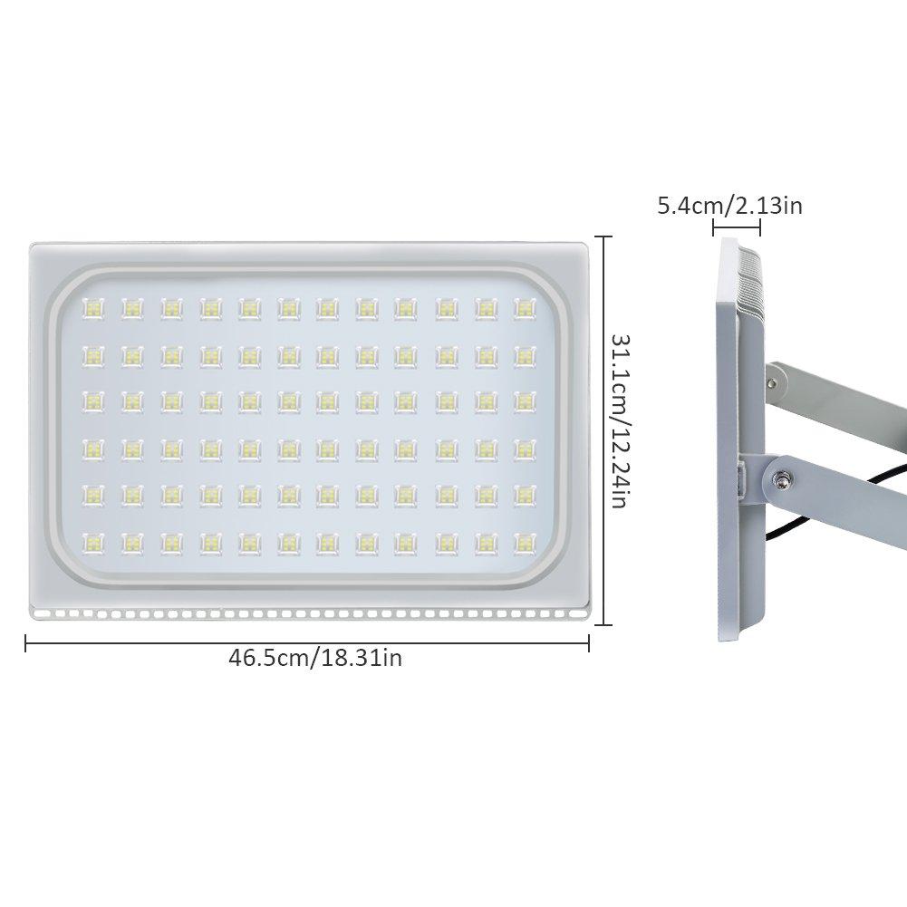 500W LED Blanco frío IP67 impermeable Foco Proyector Reflector de la Lámpara LED Seguridad Luz Brillante luz de Inundación al aire Libre 220V Para el Jardín ...