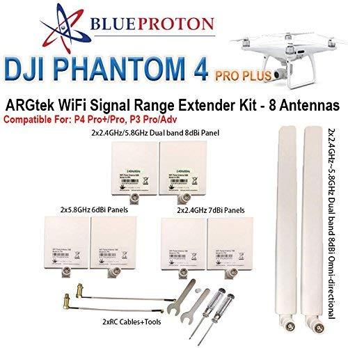 BlueProton ARGtek DJI Phantom 4 PRO+, 4 PRO/ADV, 3 PRO/ADV Range Extender Kit (8 Antennas)