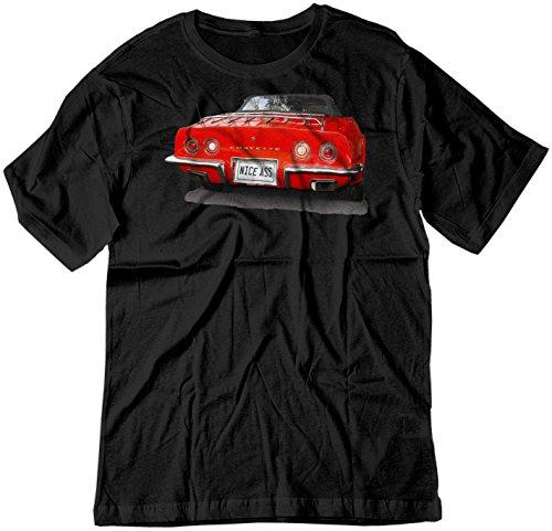 BSW Men's Nice Ass 1973 Chevrolet Corvette C3 V8 Muscle Car Shirt XL Black