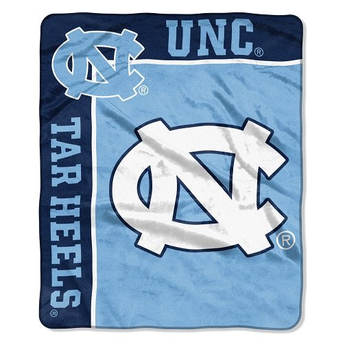 (Officially Licensed NCAA North Carolina Tar Heels School Spirit Plush Raschel Throw Blanket, 50