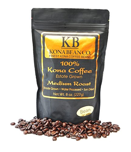 Kona Bean Co. 100% Kona Coffee Estate Grown - Medium Roast - Bean 8oz by Kona Bean Co.
