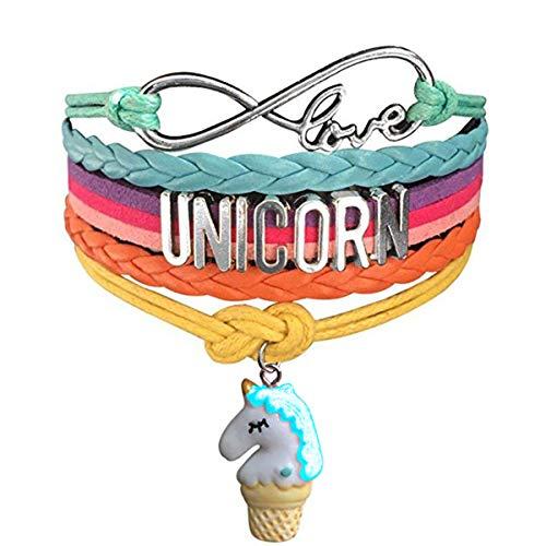 Ac Union Handmade Cute Unicorn Love Charm Leather Graduate Diploma Bangle Bracelet Gift for Gril from Ac Union