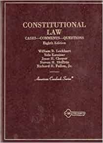 Amazon Com Constitutional Law Cases Comments Questions American Casebook Series