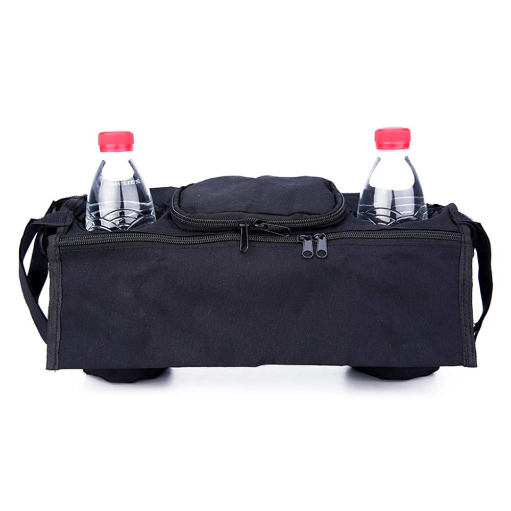 Baby Stroller Organizer Bag, Multifunctional Universal Removable Storage Bag with Insulated Bottle Holder Extra Large Storage Space for Baby Accessories-Black Naisidier