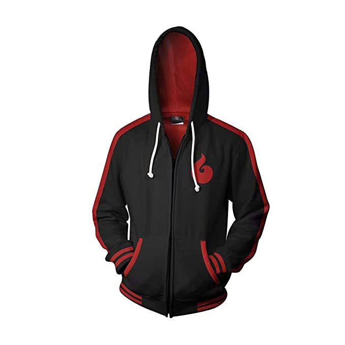 Amazon.com: Ninja Boruto - Sudadera con capucha y cremallera ...