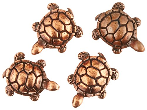 TierraCast Turtle Bead, 15mm, Antiqued Copper Plated Pewter, 4-Pack