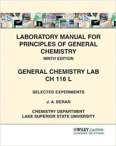 Laboratory Manual For Principles Of General