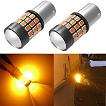 Alla Lighting 39-SMD High Power 2835 Chipsets Super Bright 7507 12496 BAU15S PY21W Amber Yellow LED Bulbs Lamps Replacement for Turn signal Blinker Light