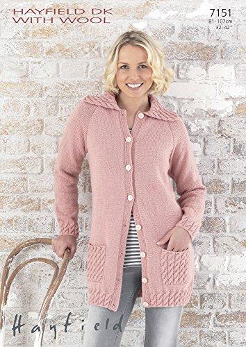 Sirdar/Hayfield DK with Wool Knitting Pattern - 7151 Jacket by Sirdar/Hayfield by Sirdar/Hayfield