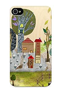 Fashion Tpu Case For Iphone 4/4s- Treehouse Defender Case Cover For Lovers