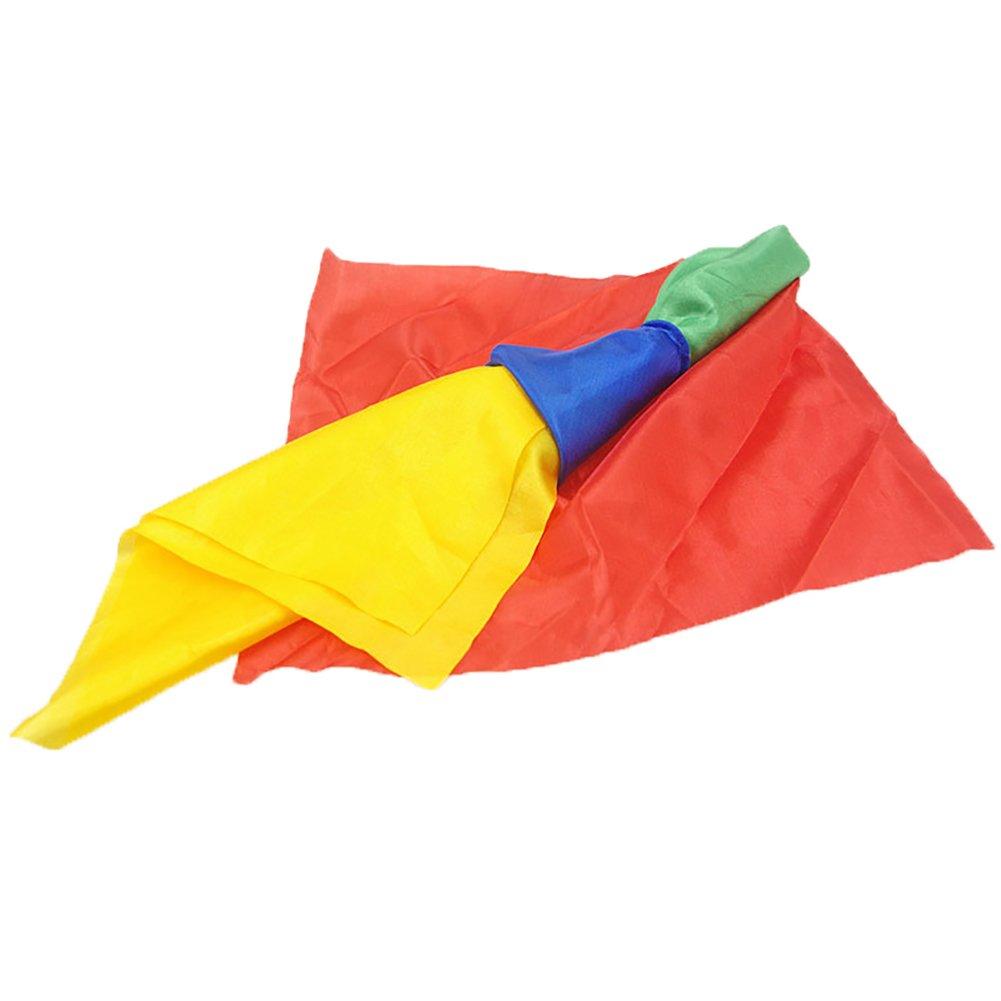 Herramientas para Magos MAJGLGE Maxglge Color al Azar Bufanda de Seda con Cambio de Color m/ágico para Trucos y broches Suministros de Juguetes