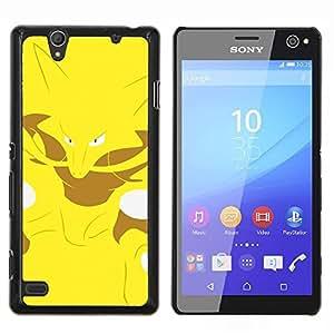 YiPhone /// Prima de resorte delgada de la cubierta del caso de Shell Armor - Yellow Monster empuje Fox - Sony Xperia C4