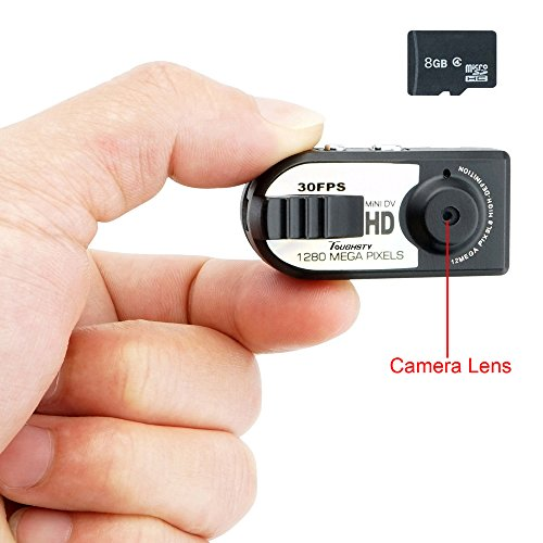 1280x720P Activated Camcorder Recording 45x15x16mm