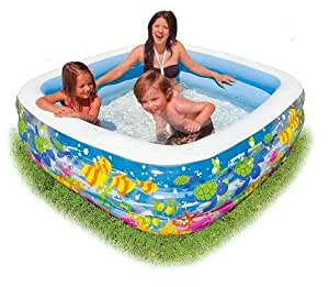 Clearview aquarium inflatable pool toys games for Piscina intex cuadrada