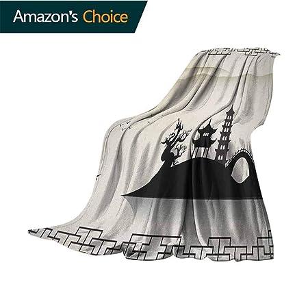 Custom&blanket Manta de Ancla Blanca con Ancla de Madera con la ...