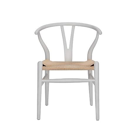 Wishbone Silla Y Silla de Comedor de Madera Maciza sillón de ...