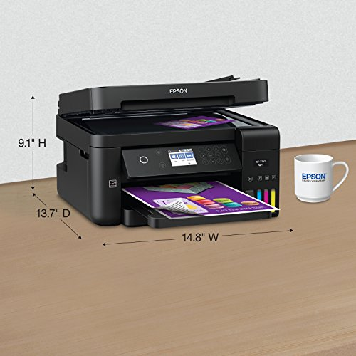 Epson Workforce ET-3750 EcoTank Wireless Color All-in-One Supertank Printer with Scanner, Copier and Ethernet (Renewed) by Epson (Image #5)