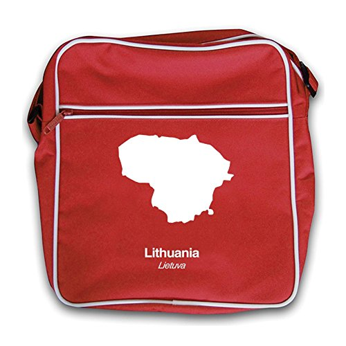 Lithuania Silhouette Bag Flight Lithuania Flight Red Bag Red Silhouette Retro Red Red Retro xCp4FqwY