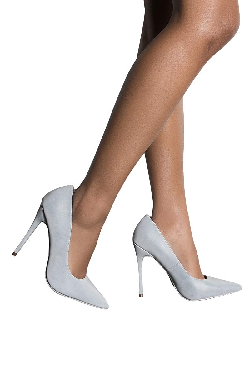 37dee82e0d2f Amazon.com  CAPE ROBBIN 3m Reflective Pointed Toe Stiletto High Heel Pumps   Clothing