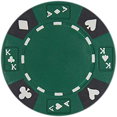 50-pack 8 Stripe Non-Denominated 14g Poker Chips Gray Clay Composite