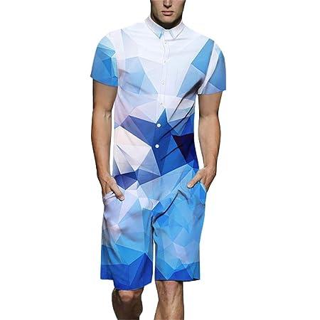 Mamelucos de verano para hombre Pantalones cortos de una pieza ...