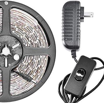 6 Feet Warm 114 LEDs Light Smd3528 110V Plug Biltek LK-SW-72 White On//Off Switch Control Kit