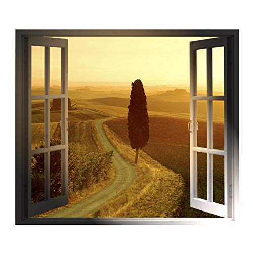 (Windowscape Italy Series - Tuscan Road Wall Decal - 31