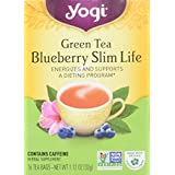 Yogi Green Tea, Blueberry Slim Life, 16 Tea Bags
