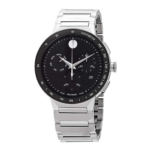 Movado Sapphire Reloj de Hombre Cuarzo Suizo 43mm Correa de Acero 0607239: Amazon.es: Relojes