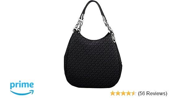 e0de0c536f3b10 Amazon.com: MICHAEL Michael Kors Signature Large Fulton Shoulder Bag  (Black): Michael Kors: Clothing