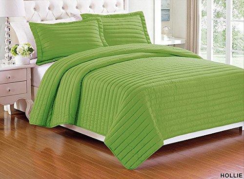 pieces Solid Color Quilt Bedspread Coverlet Set with Pillow shams : solid color quilted pillow shams - Adamdwight.com